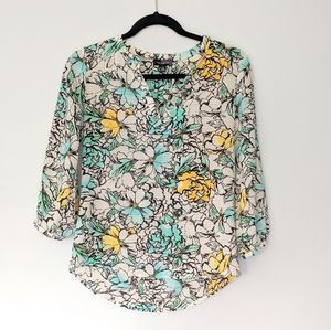 The Limited Floral Print Blouse Top